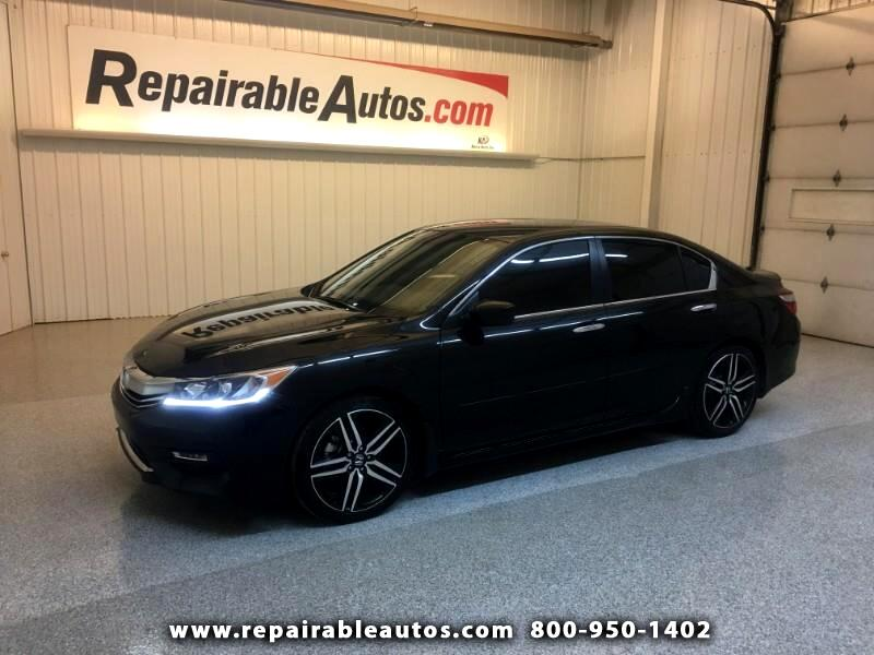 2017 Honda Accord Sport Repairable Theft Damage