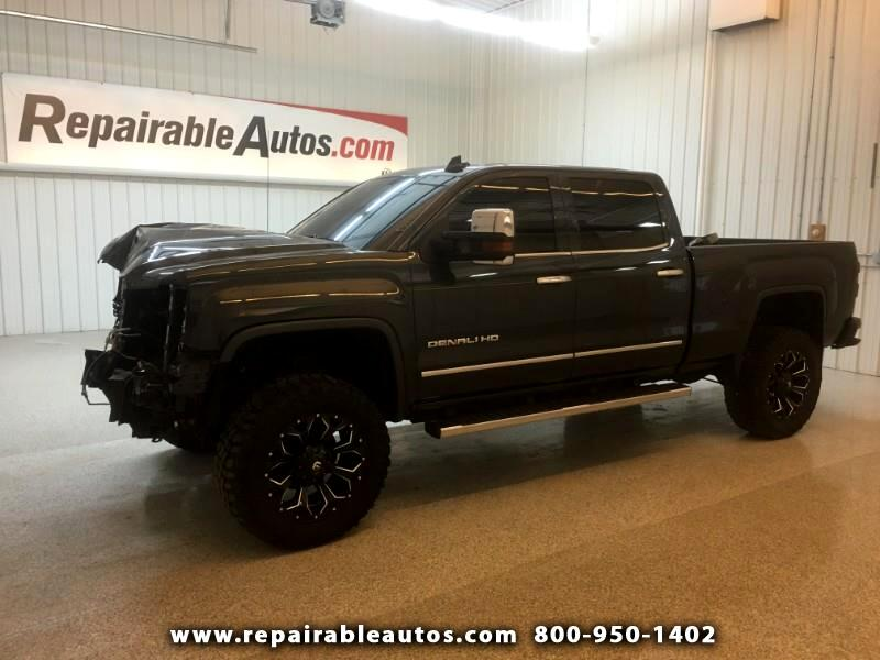 2017 GMC Sierra 3500HD Denali 4WD Repairable Front Damage