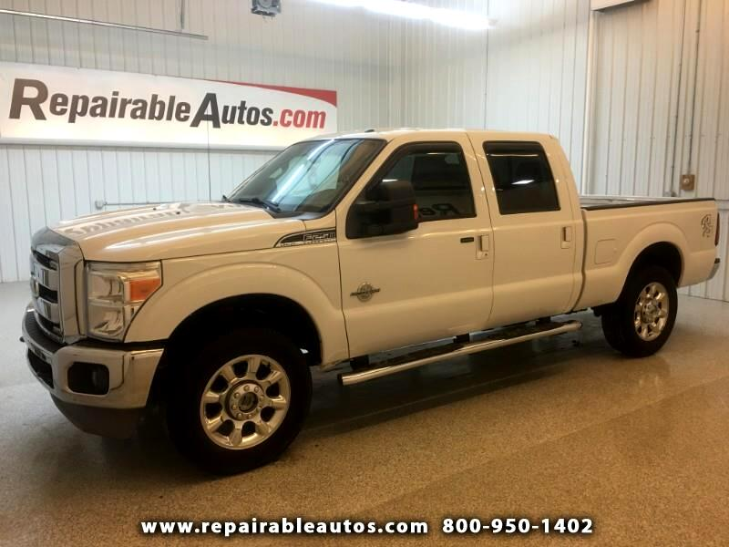 2011 Ford F-250 SD Lariat Crew Cab 4WD Repairable Mechanic Special