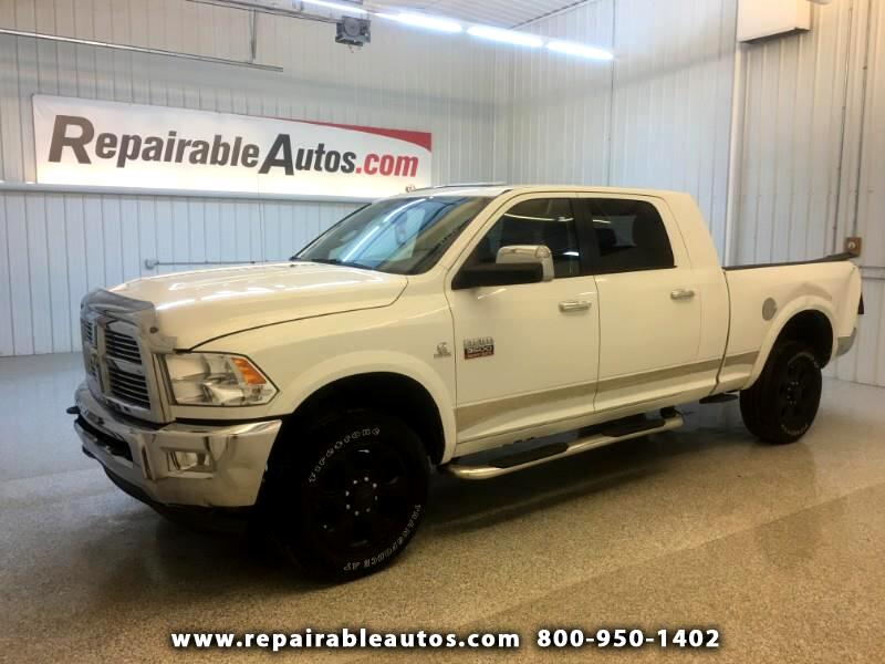 2012 RAM 3500 Laramie Mega Cab 4WD Repairable Rear Damage