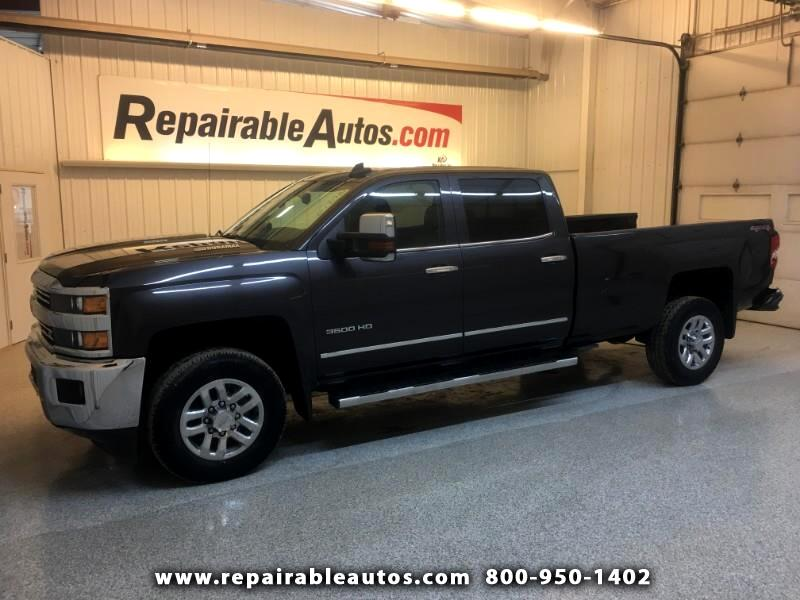 2015 Chevrolet Silverado 3500HD LTZ Crew Cab 4WD Repairable Rear Damage