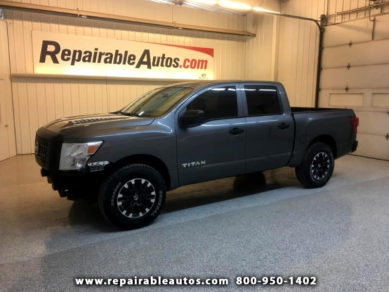 2017 Nissan Titan 4WD Repairable Front Damage