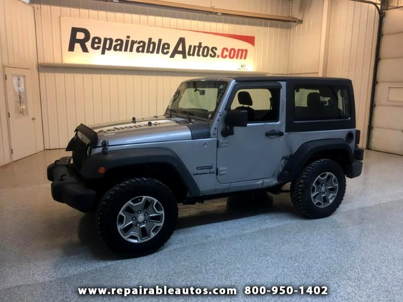 2015 Jeep Wrangler Sport 4WD Repairable Side Damage
