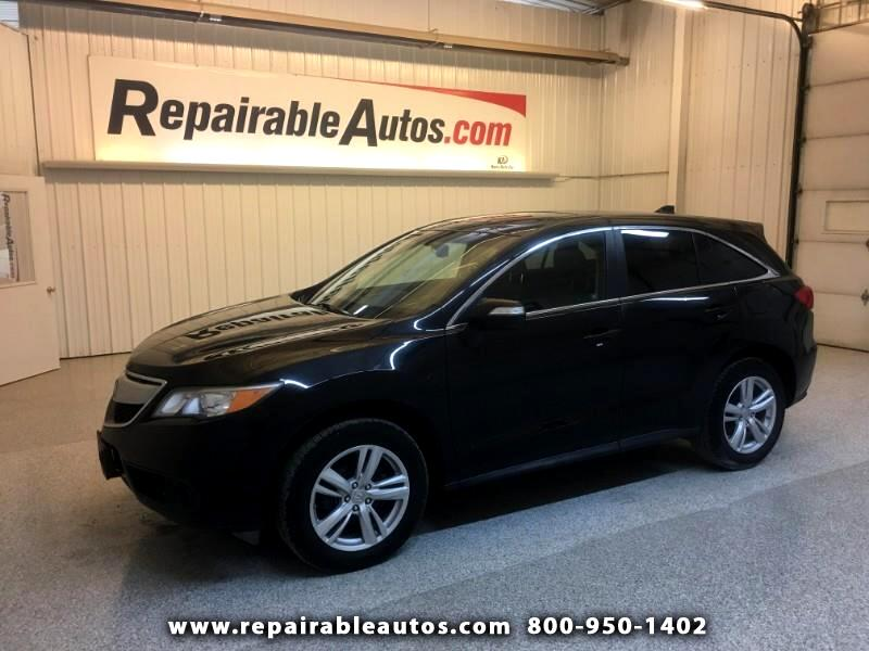 2013 Acura RDX AWD Repairable Hail Damage
