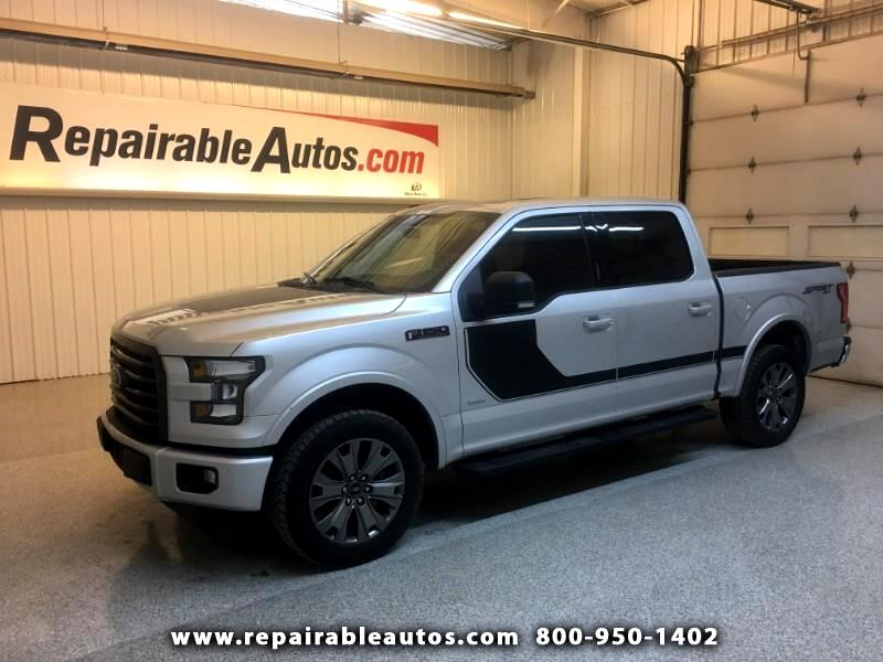2017 Ford F-150 Sport 4WD Repairable Rear & Front Damage
