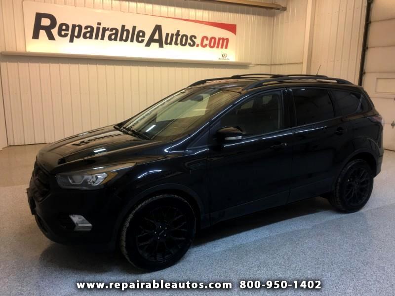 2017 Ford Escape Titanium AWD Repairable Theft Damage