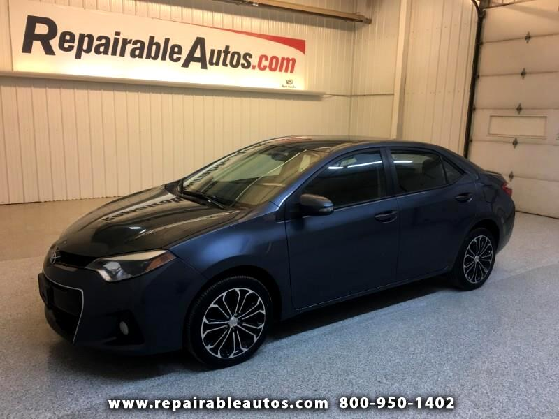 2016 Toyota Corolla S Repairable Hail Damage