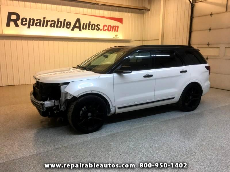 2017 Ford Explorer Sport 4WD Repairable Front Damage