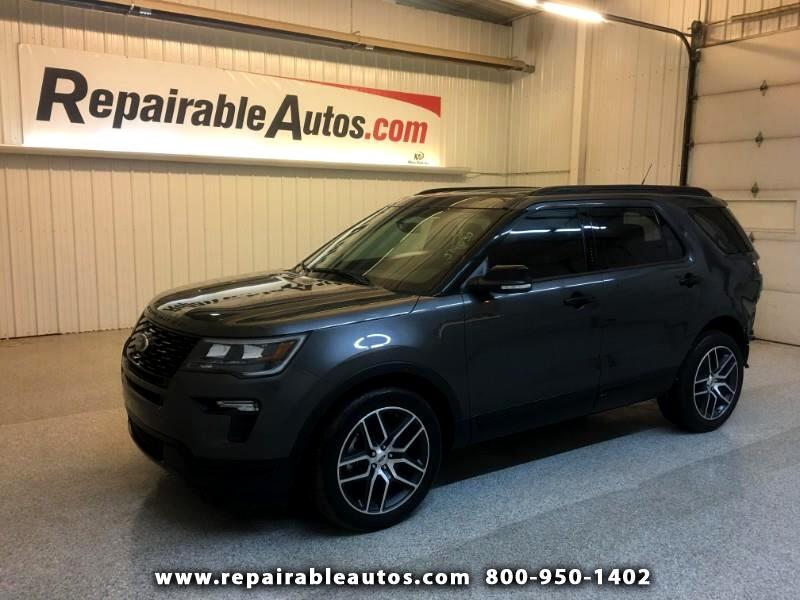 2019 Ford Explorer Sport 4WD Repairable Rear Damage