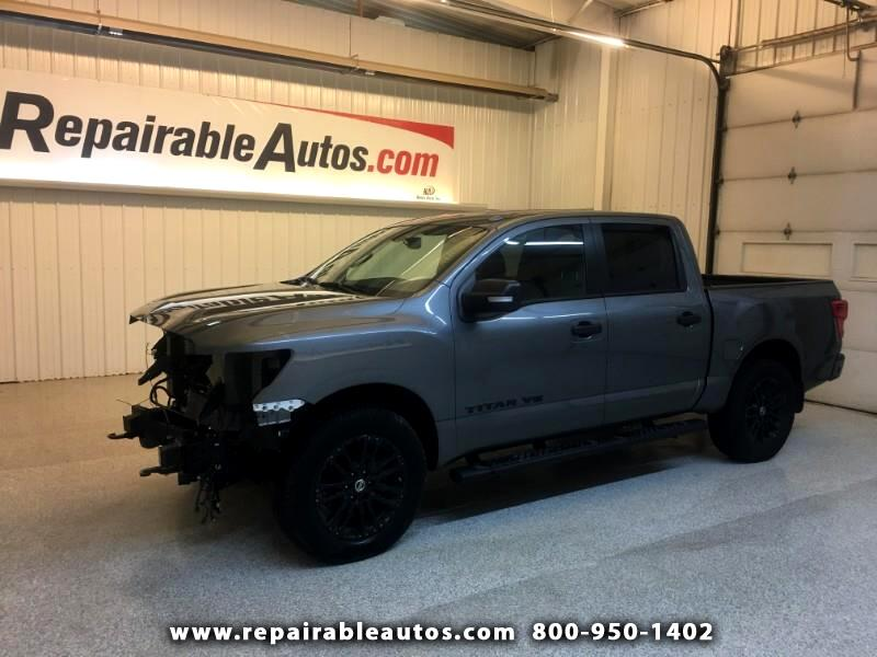 2018 Nissan Titan Crew Cab 4WD Repairable Front Damage