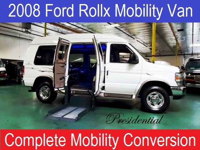 2008 Ford T150 Wagon Transport w/Wheelchair Lift E250 Rollx Presidential Wheelchair Hand Control Co