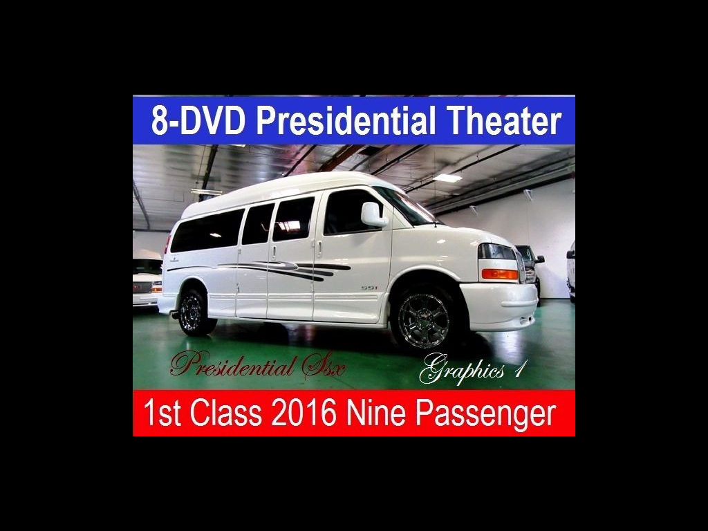 2016 GMC 9 Passenger Conversion Van Presidential 8 DVD Theater Ssx