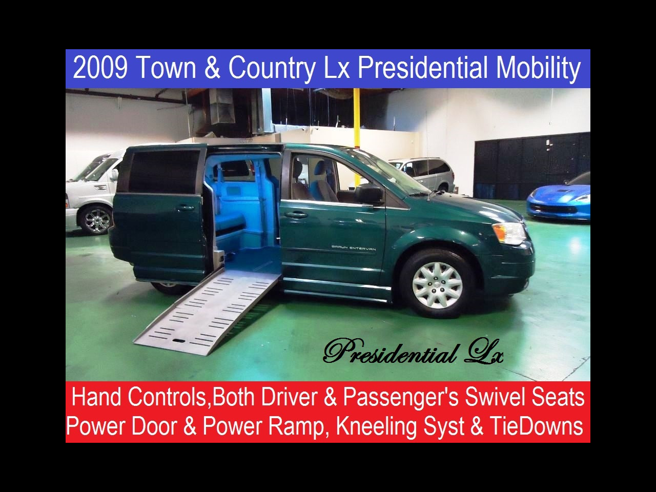 2009 Chrysler Town and Country Presidential Mobility Handicap Van