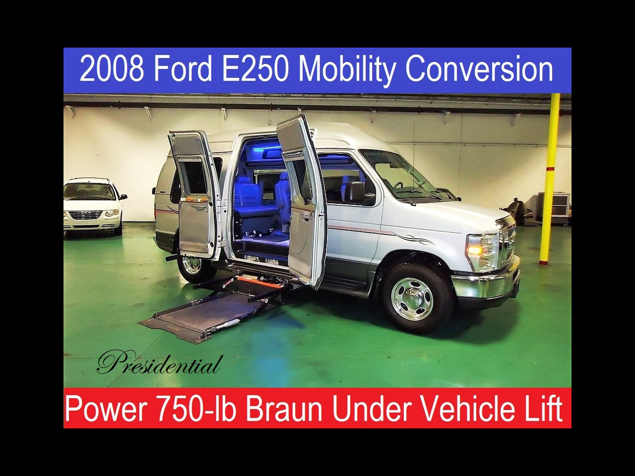 2008 Ford E250 Presidential Tuscany Wheelchair Handicap Van