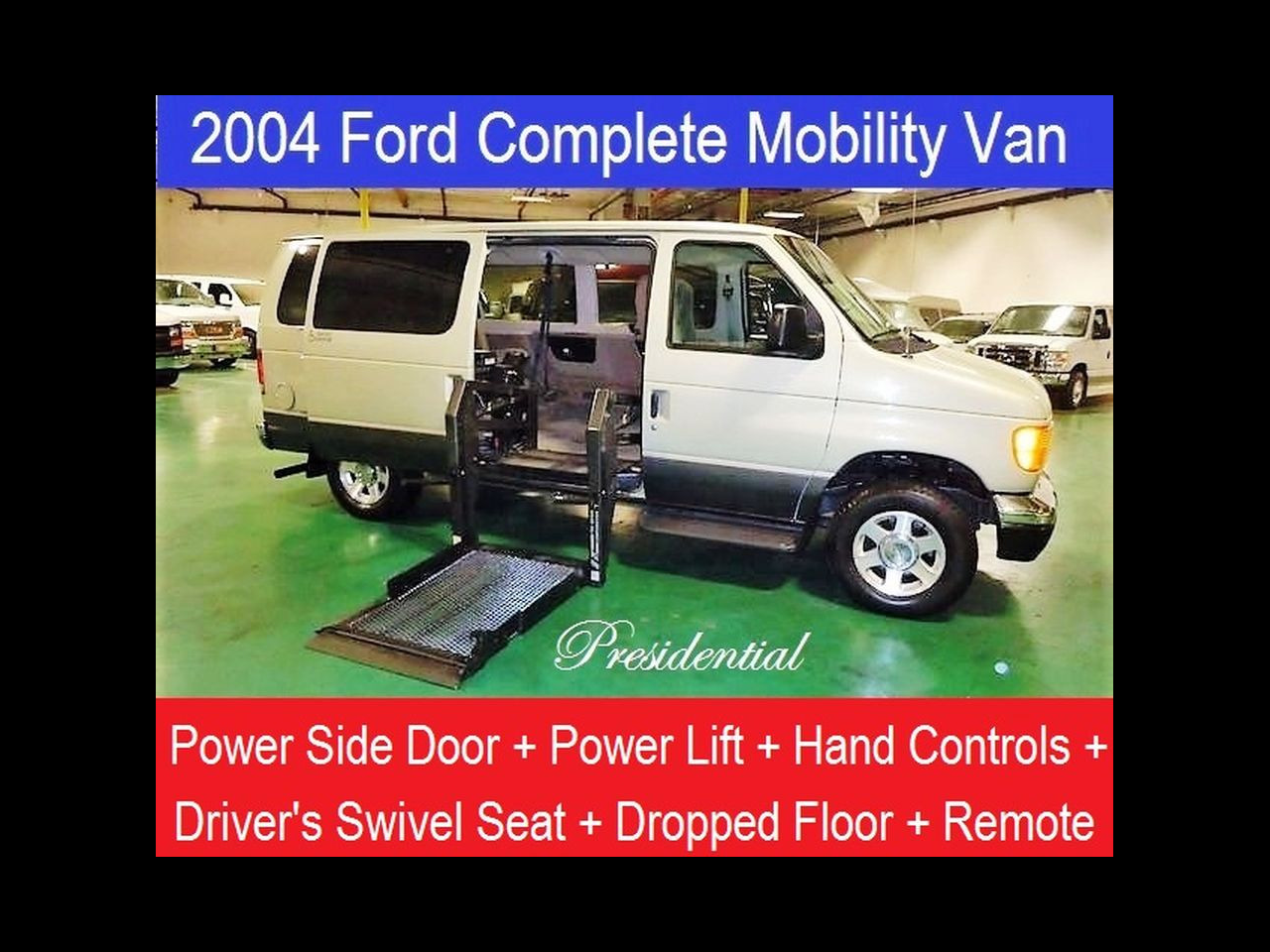 2004 Ford E150 Handicap Hand Control Swivel Seat Conversion Van