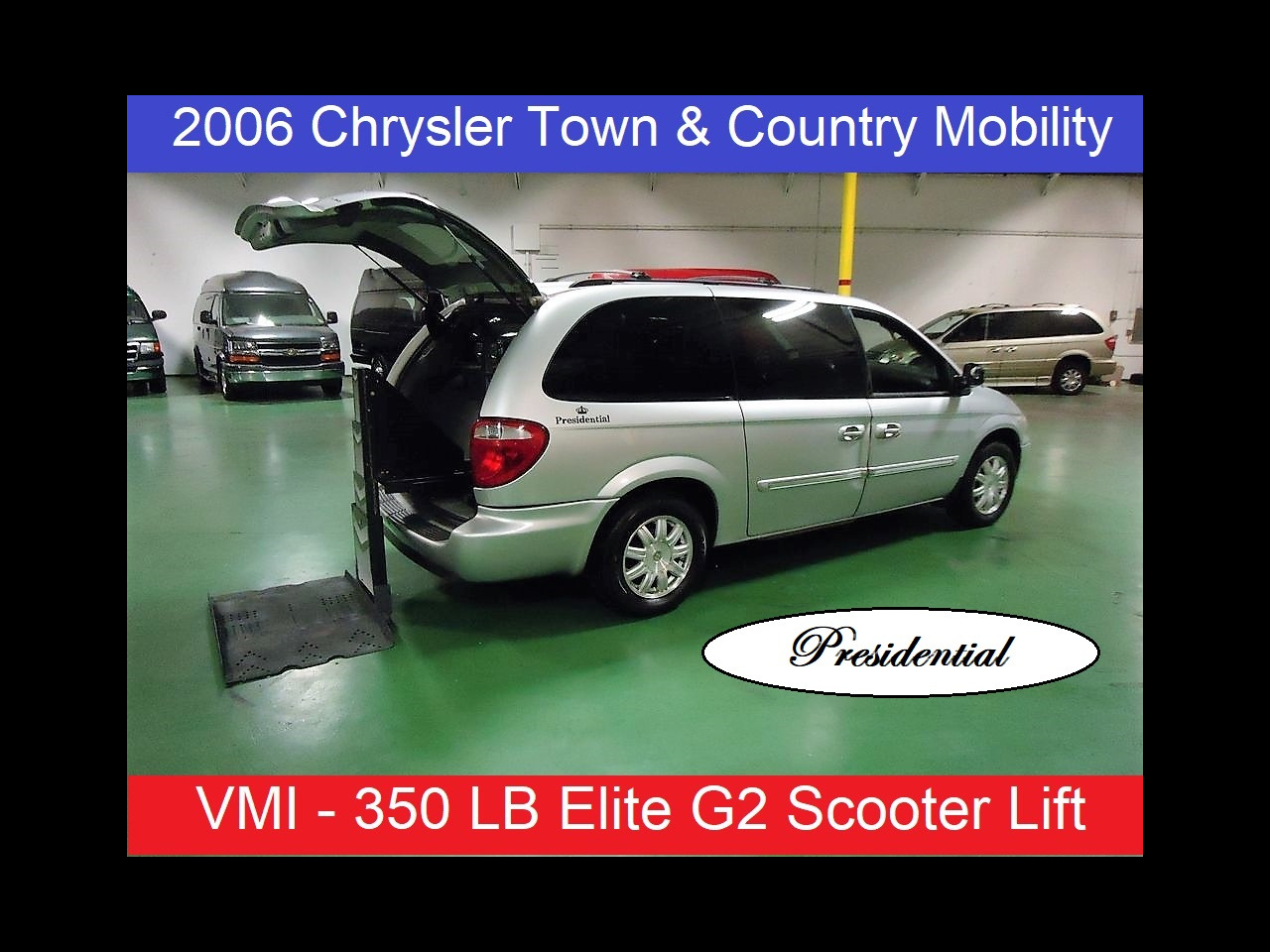 2006 Chrysler Town & Country Presidential Mobility Wheelchair Scooter Rear Lift