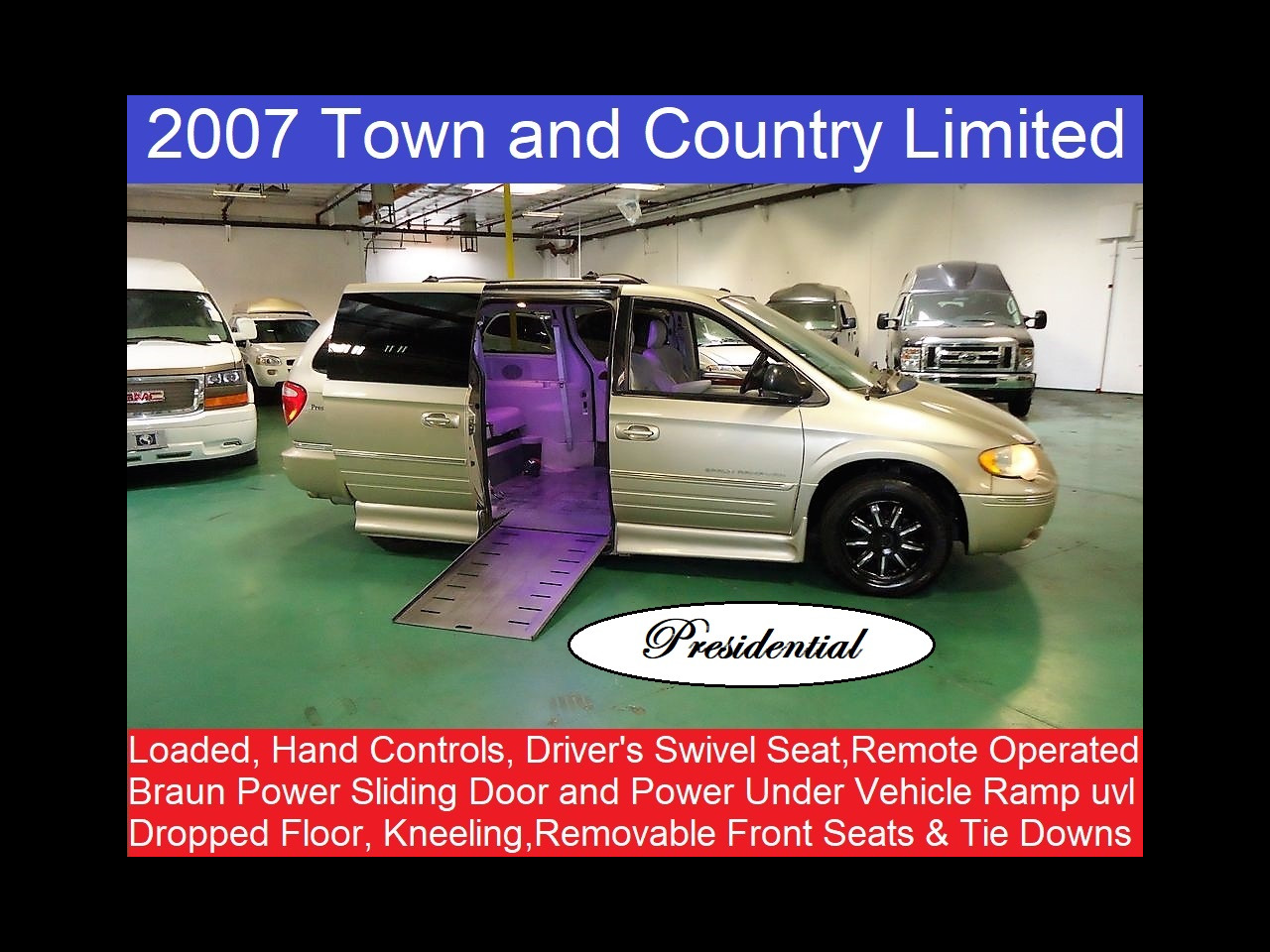 2007 Chrysler Town & Country LWB Limited Presidential Wheelchair Mobility Handicap