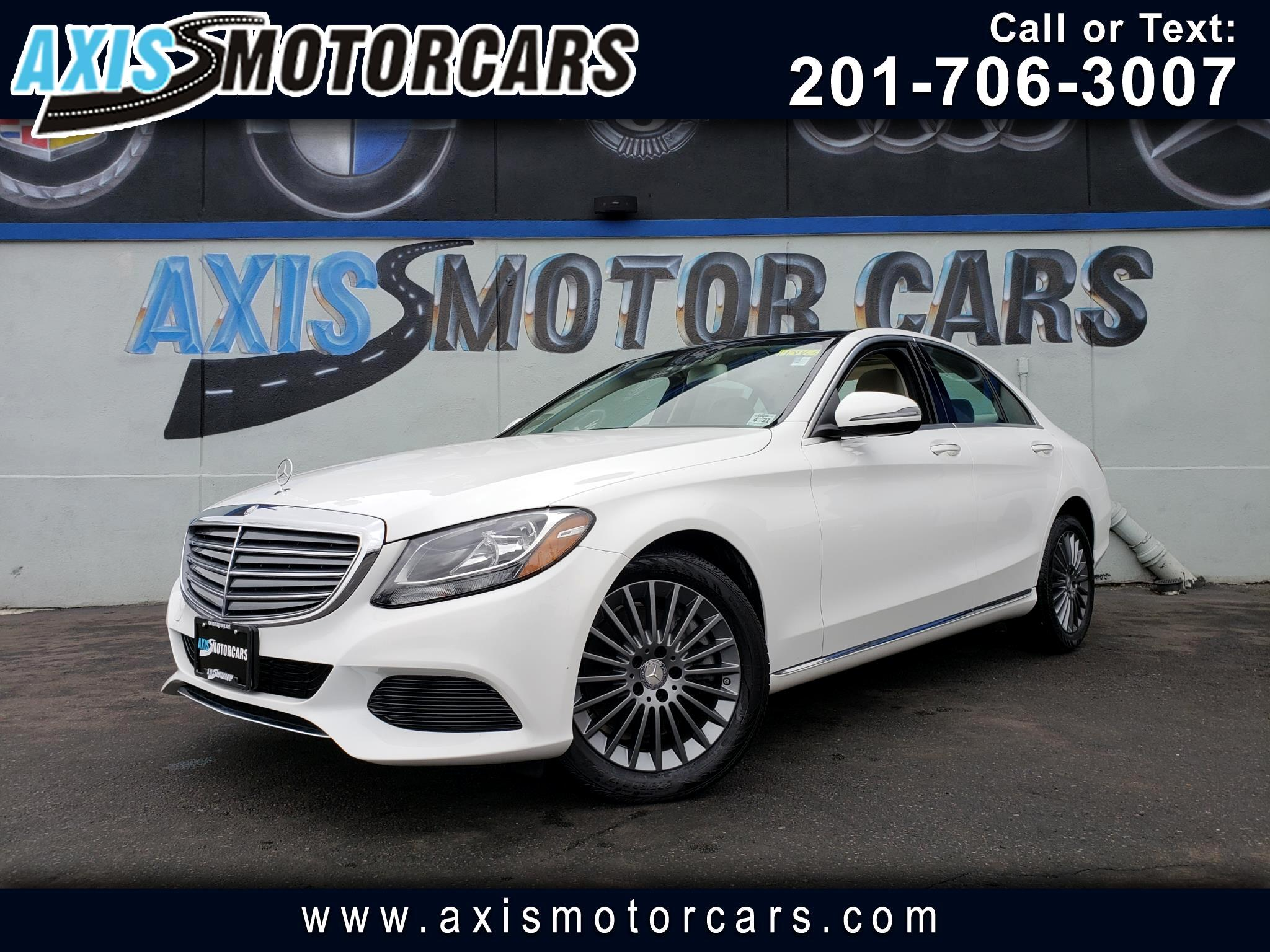 2016 Mercedes-Benz C300 4MATIC w/Navigation Bakup Camera Panoramic Roof