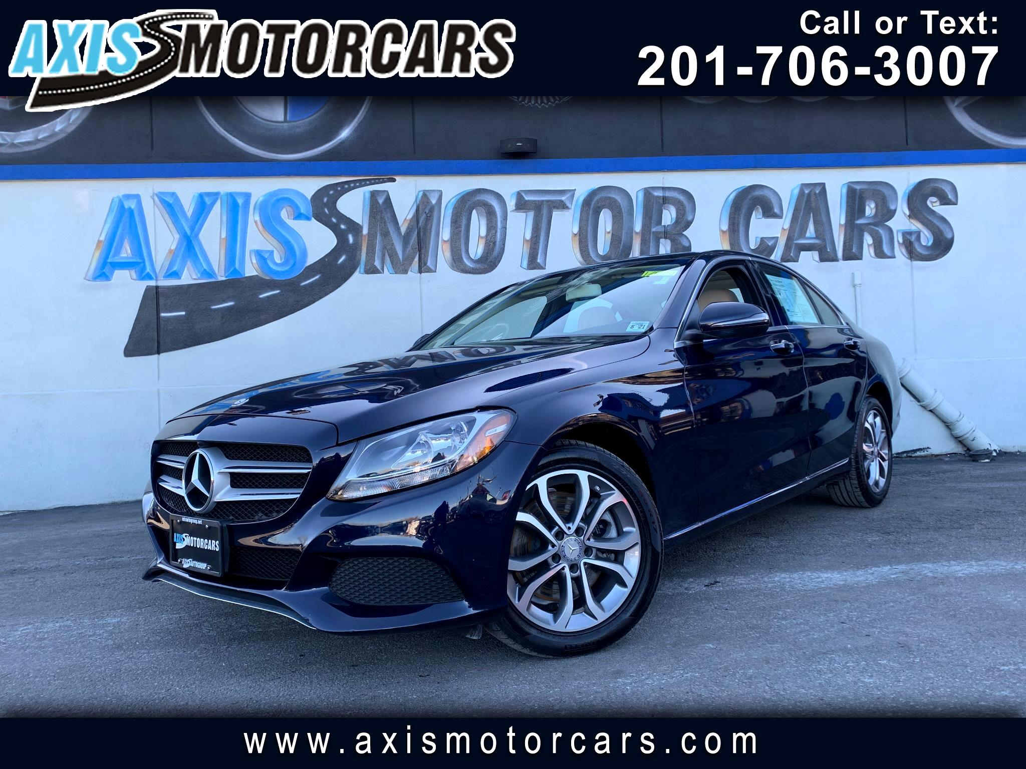 2016 Mercedes-Benz C-Class 300 w/Panoramic Roof Navigation Bakup Camera