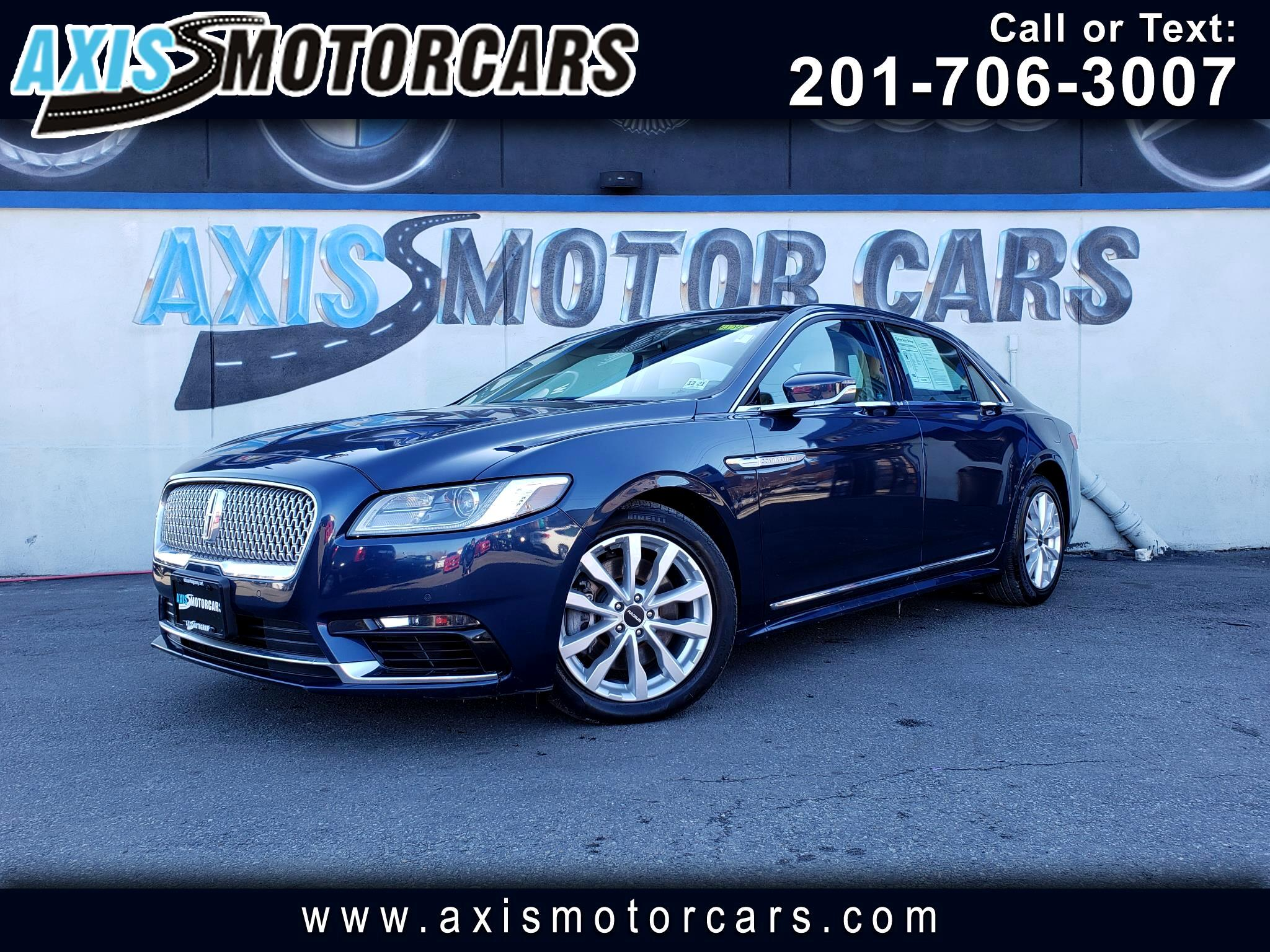 2017 Lincoln Continental Select w/Navigation Bakup Camera Sun Roof