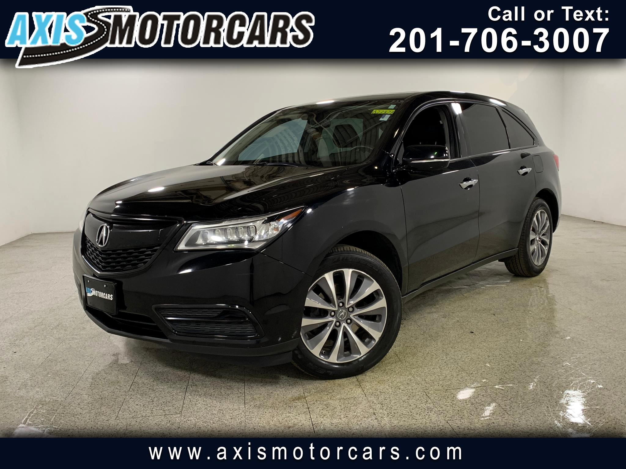 2015 Acura MDX Tech Pkg w/Navigation Bakup Camera Sunroof