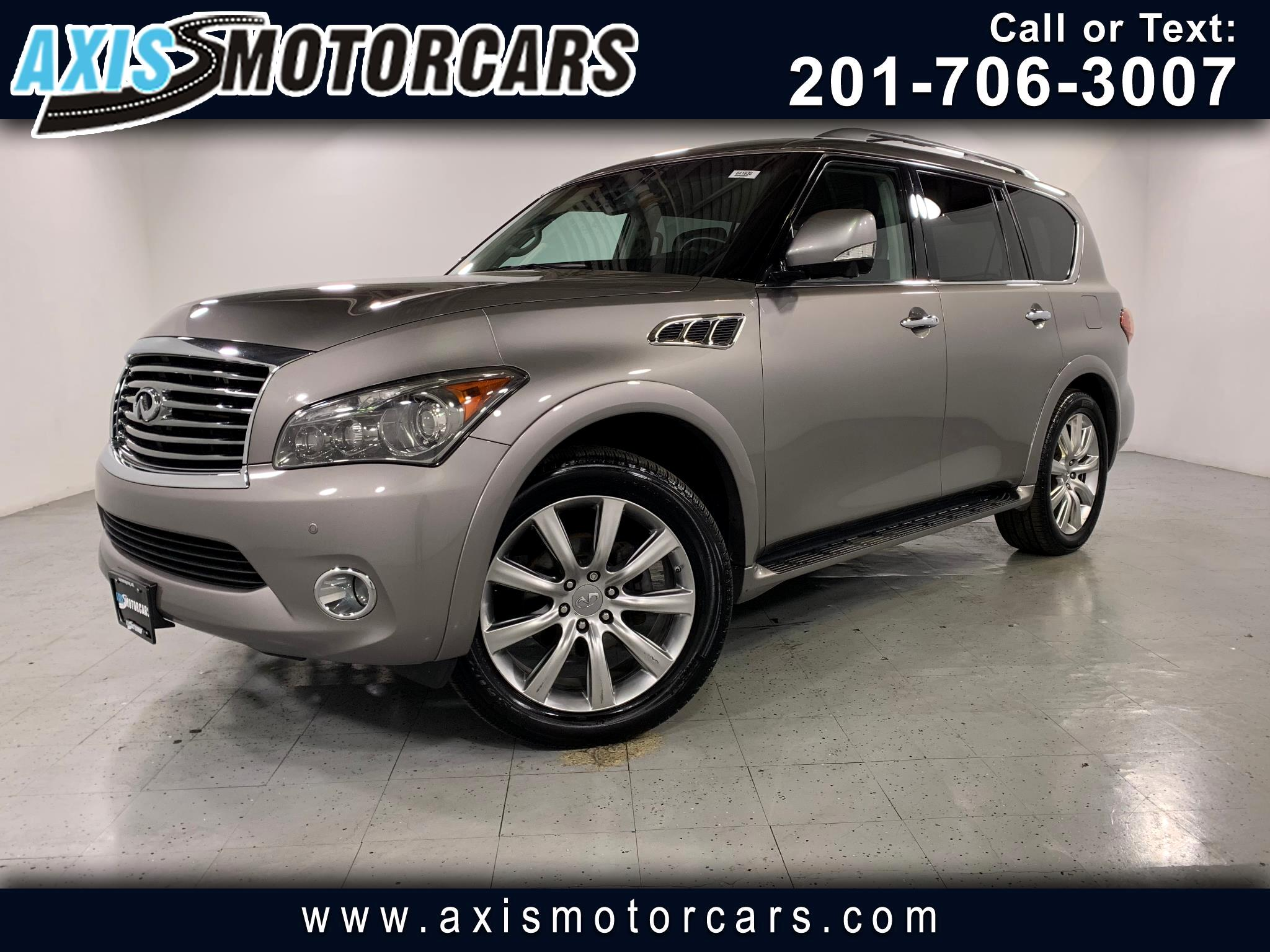 2013 Infiniti QX56 w/Rear Entertainment Bose Sound System Navigation