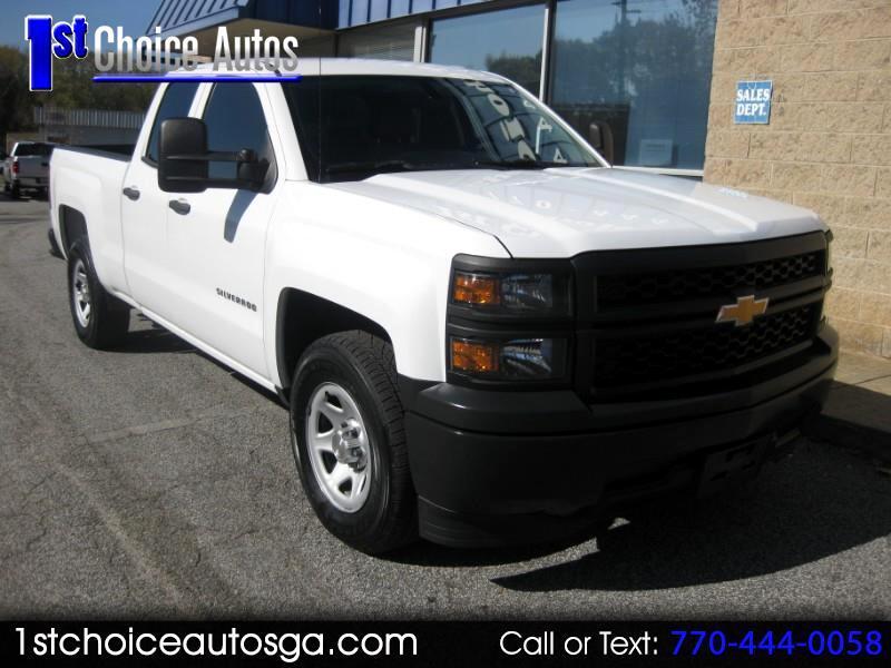 "2014 Chevrolet Silverado 1500 2WD Double Cab 143.5"" Work Truck w/1WT"