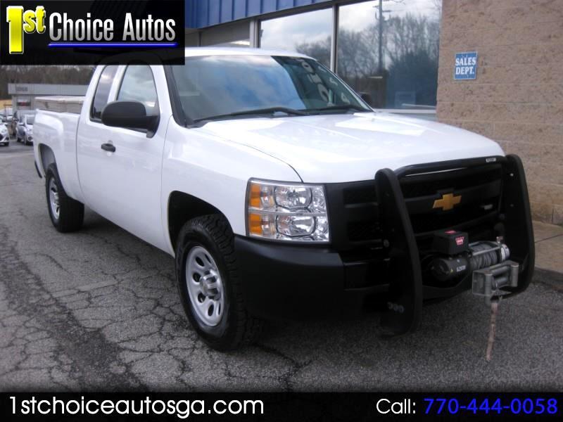 """2013 Chevrolet Silverado 1500 4WD Ext Cab 143.5"""" Work Truck"""