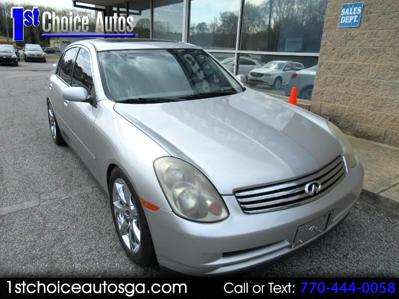 2003 Infiniti G35 Sedan 4dr Sdn Auto w/Leather
