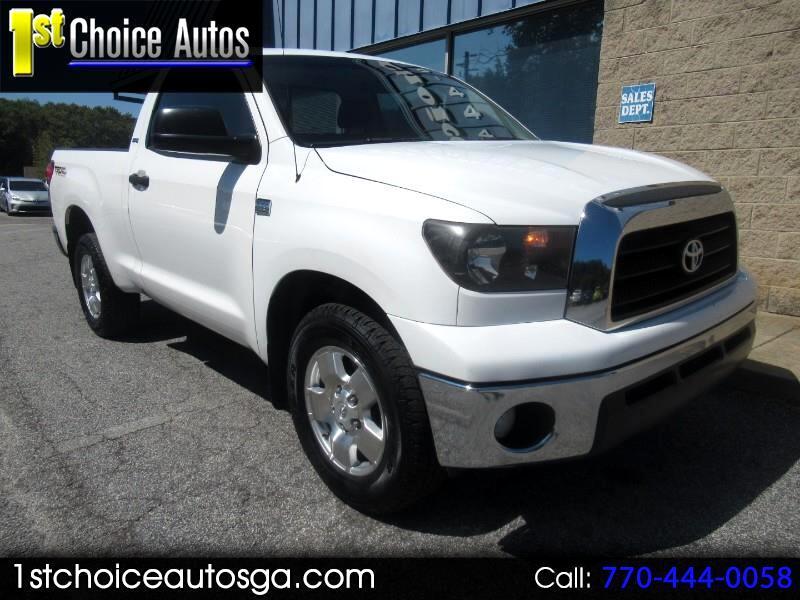 Toyota Tundra 2WD Truck Reg 4.7L V8 5-Spd AT  (Natl) 2008