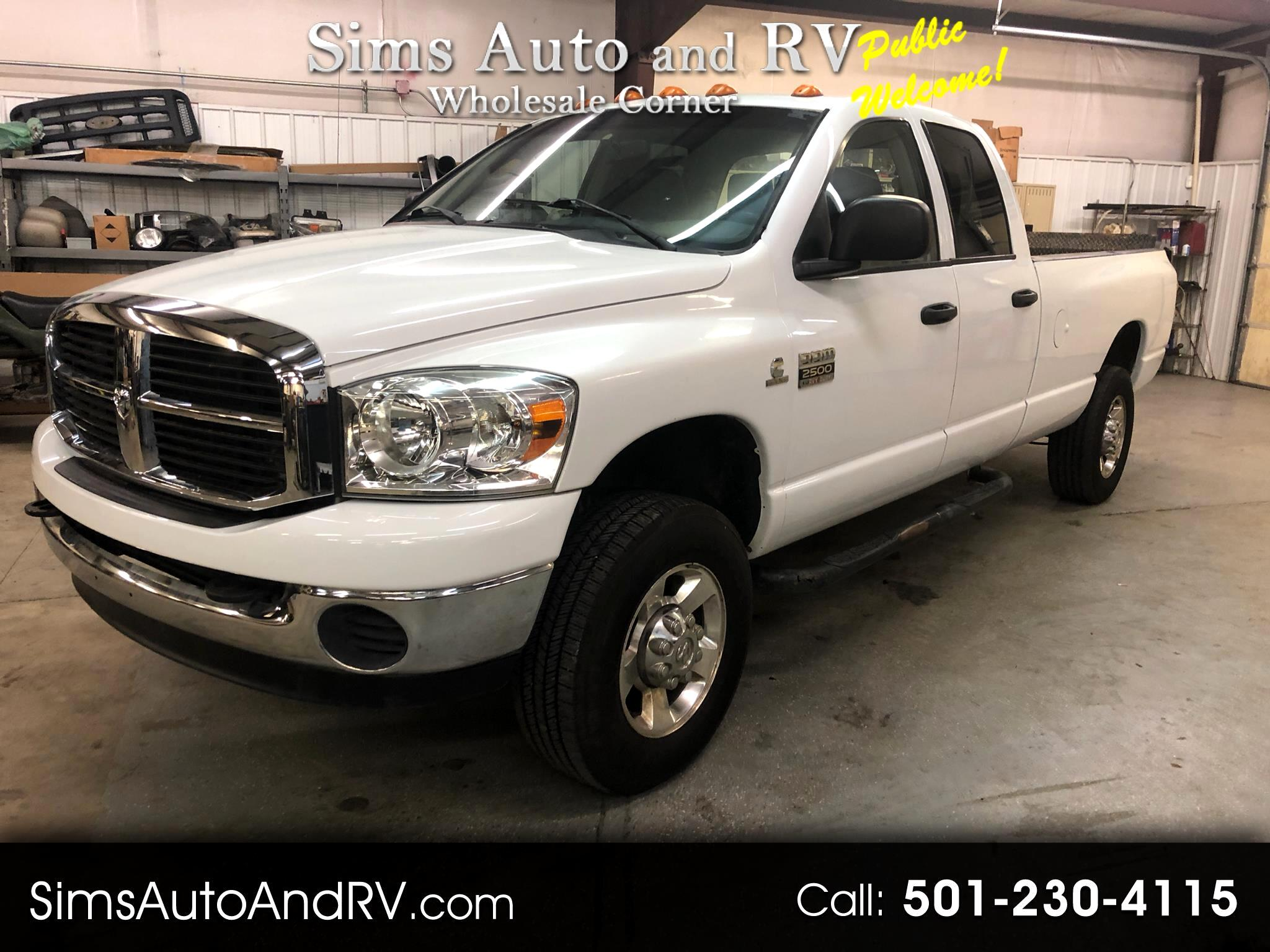 Used 2007 Dodge Ram 2500 Slt Quad Cab 4x4 5 9 Cummins Diesel Crew W Tommy L For Sale In Searcy Ar 72143 Sims Auto And Rv