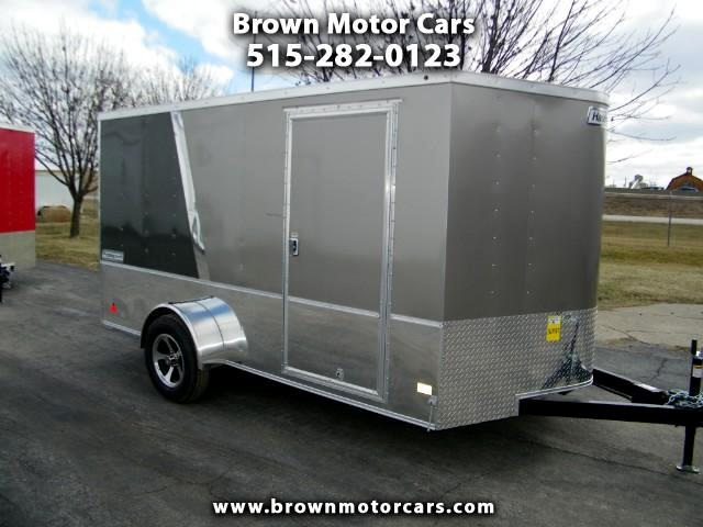 2018 Haulmark Passport 7x12 V-Nose Enclosed Trailer Two Tone