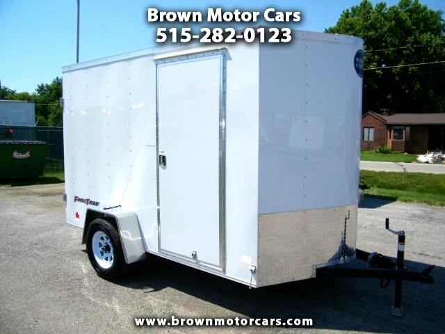 2018 Wells Cargo Fast Trac 6x10 V-Nose Enclosed Trailer Cargo Door
