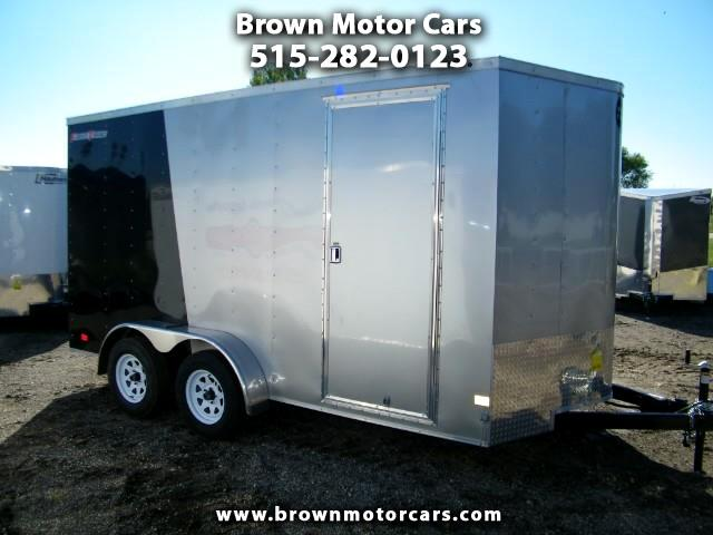 2019 Wells Cargo Fast Trac 7x14 V-Nose Enclosed Trailer w/7ft Interior Height