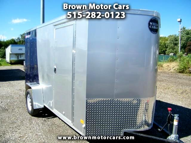 2019 Wells Cargo Fast Trac 6x12 V-Nose Enclosed Trailer Two Tone