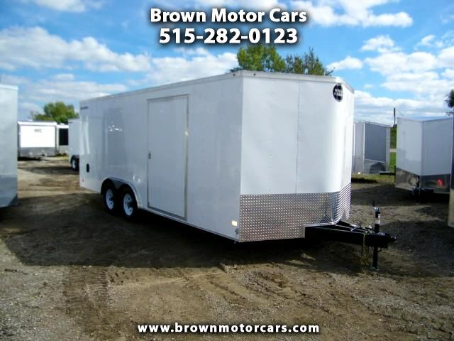 2019 Wells Cargo Fast Trac 8.5x20 V-Nose Enclosed Car Hauler w/5.2k Axles and