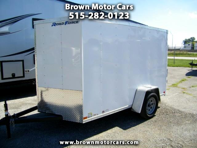 2019 Wells Cargo Fast Trac 6x10 V-Nose Enclosed Trailer w/Painted Floor
