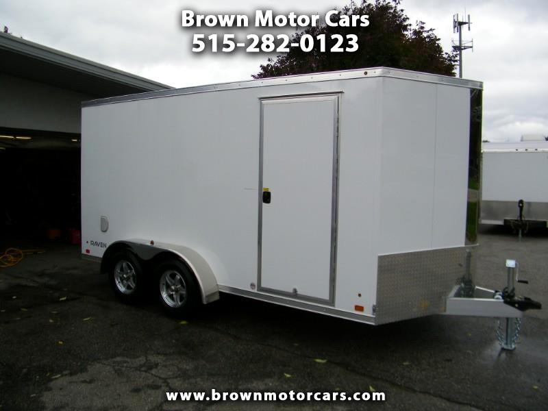 "2019 ATC Raven 7x14 V-Nose Aluminum Enclosed Trailer w/6'6"" Inter"