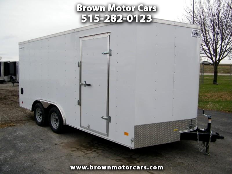 "2019 Haulmark Passport 8.5x16 V-Nose Enclosed Trailer w/6'6""Int Height"
