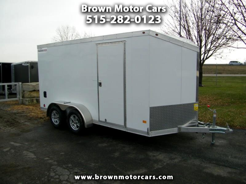2019 Haulmark Enclosed Trailer HAUV 7x14 V-Nose Aluminum Enclosed Trailer