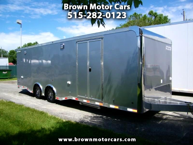 2019 Haulmark Enclosed Trailer HAR 8.5x28 Aluminum Enclosed Car Hauler w/ Cabinet