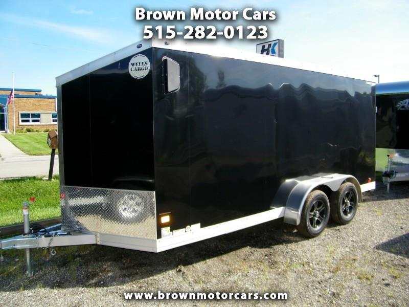 2019 Wells Cargo Trailer WAUV 7x16 Aluminum Enclosed Trailer