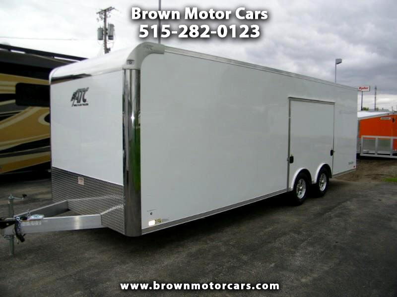 2020 ATC Raven 8.5x24 Aluminum Car Hauler w/Premium Escape Door