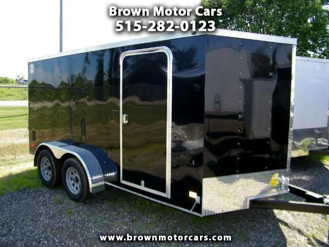 2017 Wells Cargo Trailer WCVG 7x14 V-Nose Enclosed Trailer Cargo Trailer
