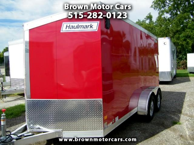 2017 Haulmark HAUV7X14WT2 V-Nose Aluminum Enclosed Trailer