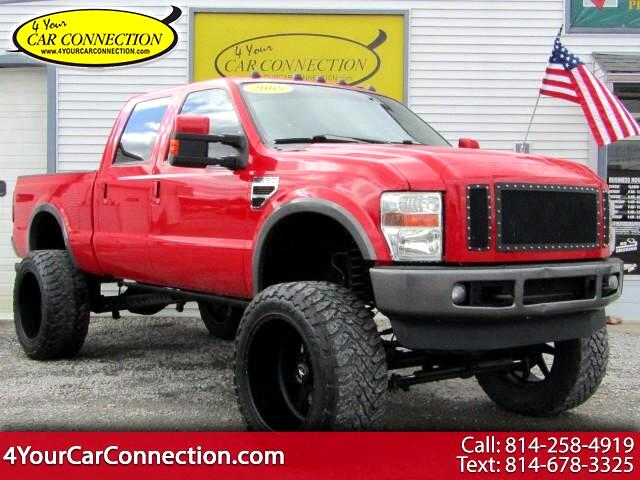 "2008 Ford F-250 SD FX4 Crew Cab DIESEL 4WD NAV 10"" FULL THROTTLE SUSP"