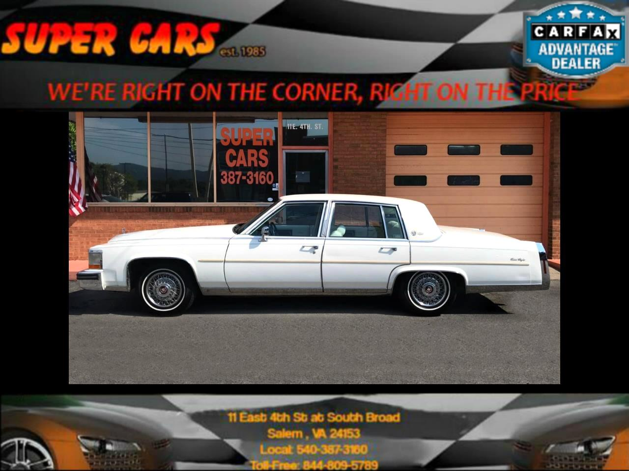 1986 Cadillac Fleetwood Brougham Sedan