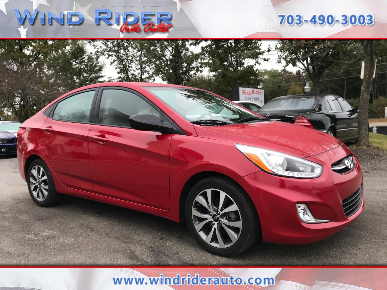 used 2016 hyundai accent se sedan auto for sale in woodbridge va 22192 wind rider auto outlet. Black Bedroom Furniture Sets. Home Design Ideas