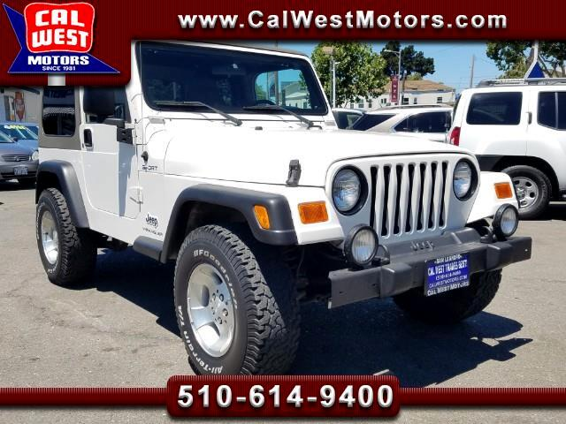 2003 Jeep Wrangler Sport 4WD 5Speed Manual Inline6Cyl Aux ExprtMntnce
