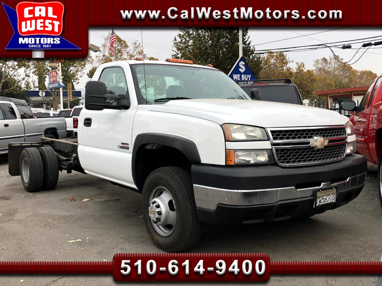 2005 Chevrolet Silverado 3500 Cab and Chassis 161.5 WB Duramax-Allison VeryClean